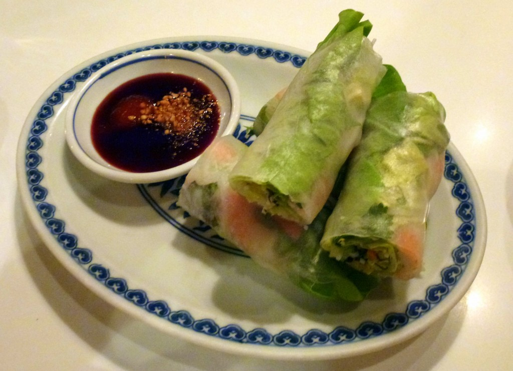 Shrimp summer rolls at Cay Tre