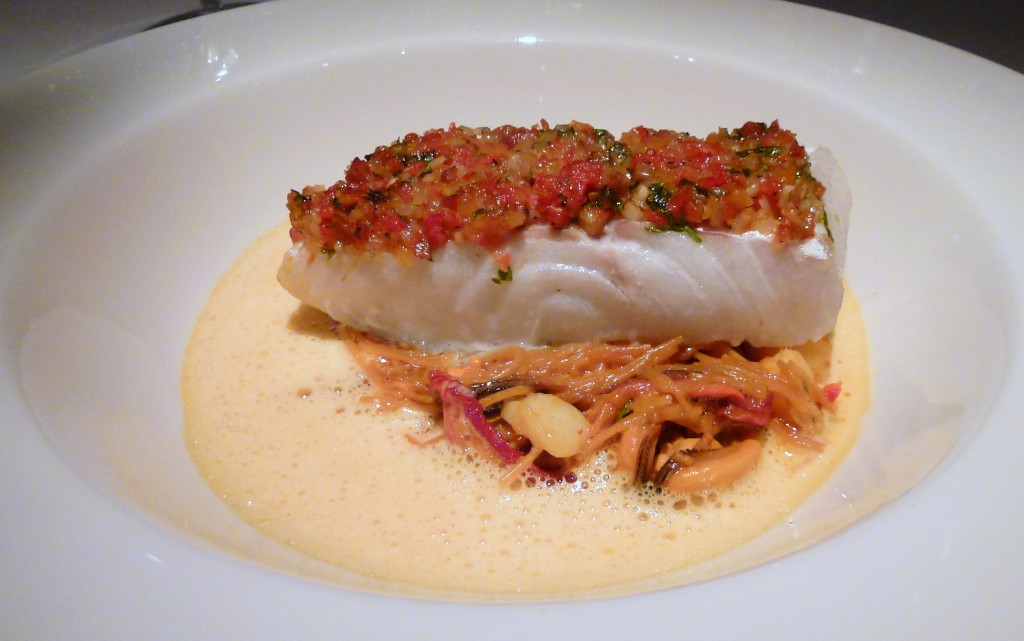 Cod, vermicelli and mussel casserole at clos maggiore