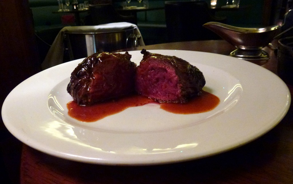 Fillet steak with bone marrow gravy at Hawksmoor air street
