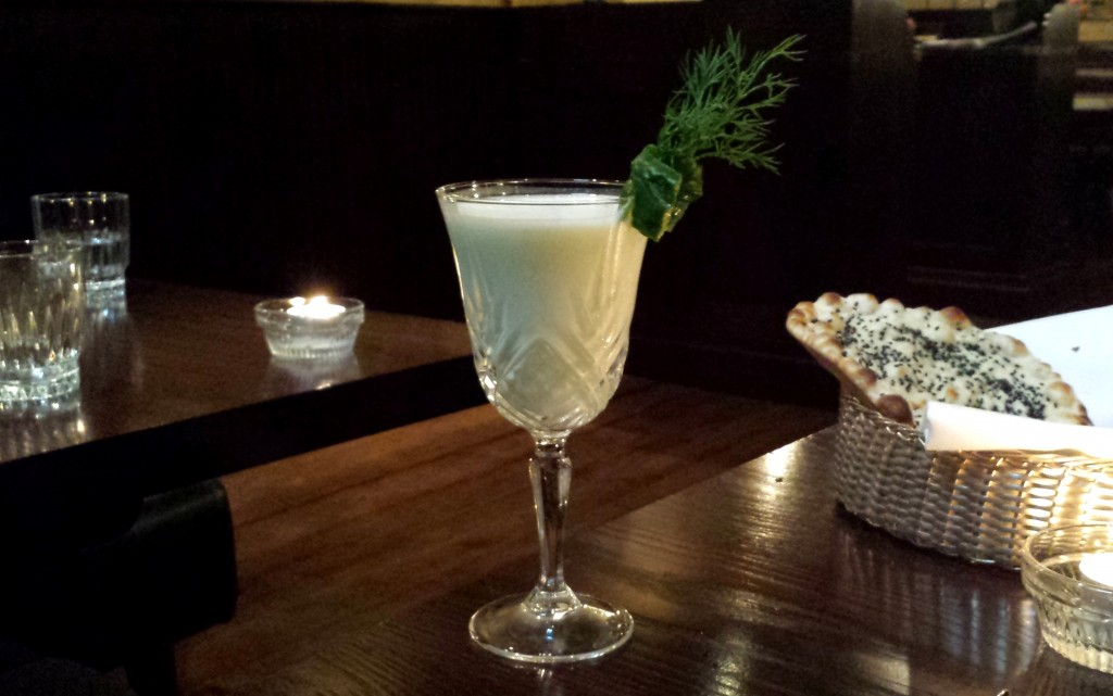 Flutterby cocktail - absinthe lassi at gymkhana