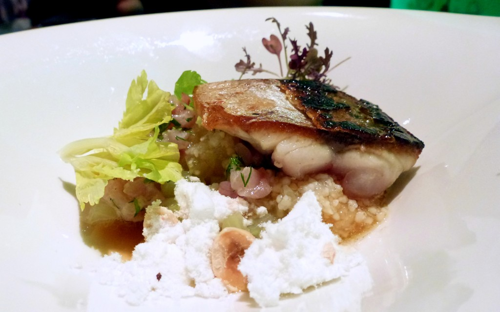Mackerel, hazelnuts, apple tapioca, celery and miso at L'Autre Pied