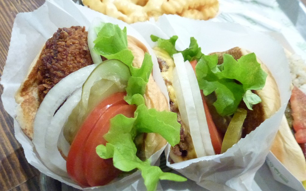 Shroom & cheeseburger at shake shack