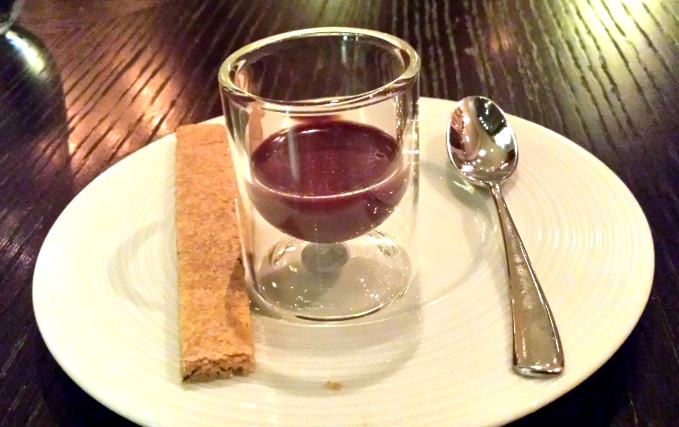 Earl grey & chocolate ganache, caraway biscuit at dinner by heston blumenthal