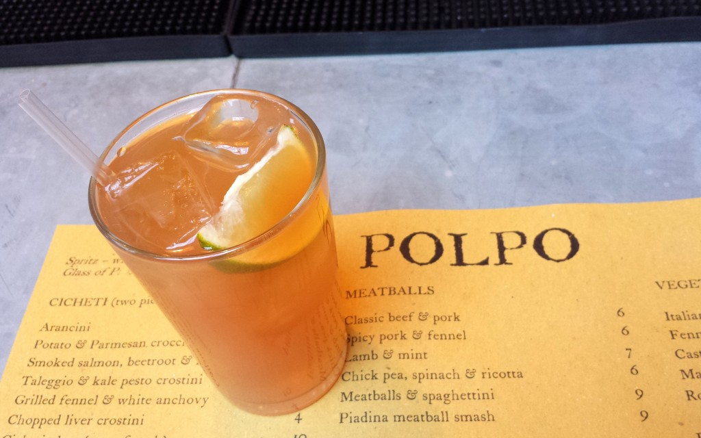 Rum cocktail at polpo