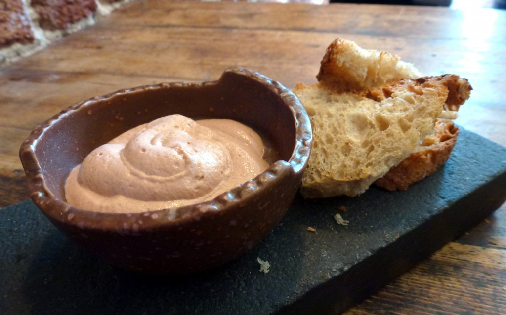 Chicken liver mousse, quince at the dairy