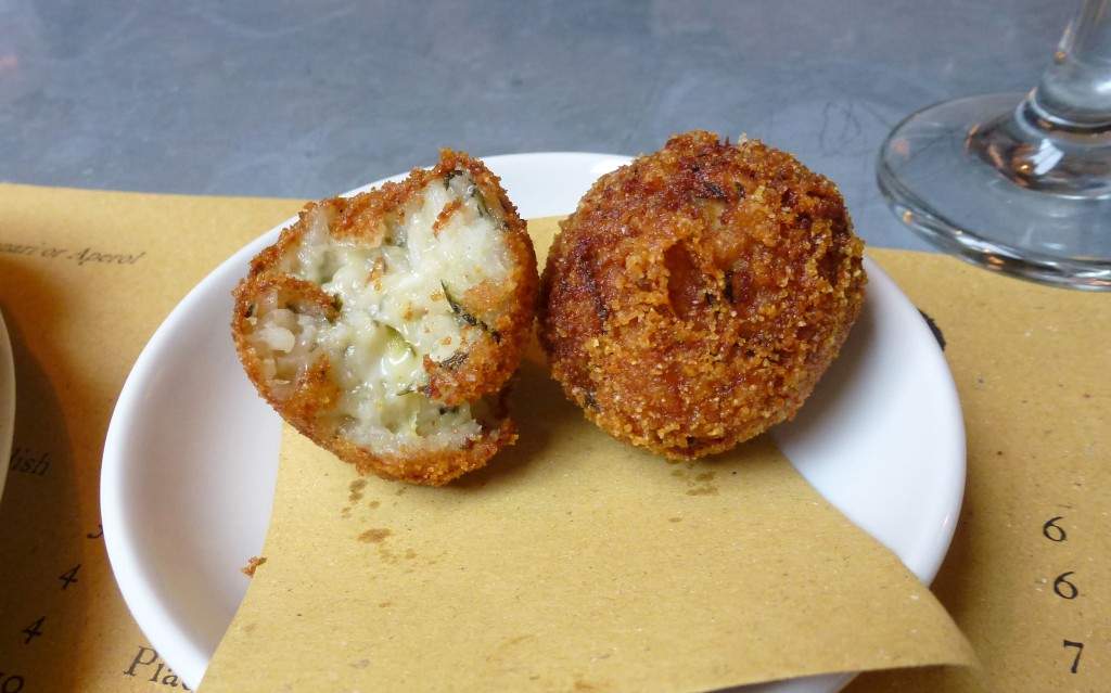 Arancini at polpo