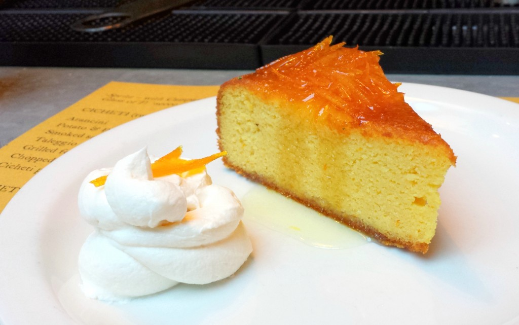 Flourless orange & almond cake at polpo
