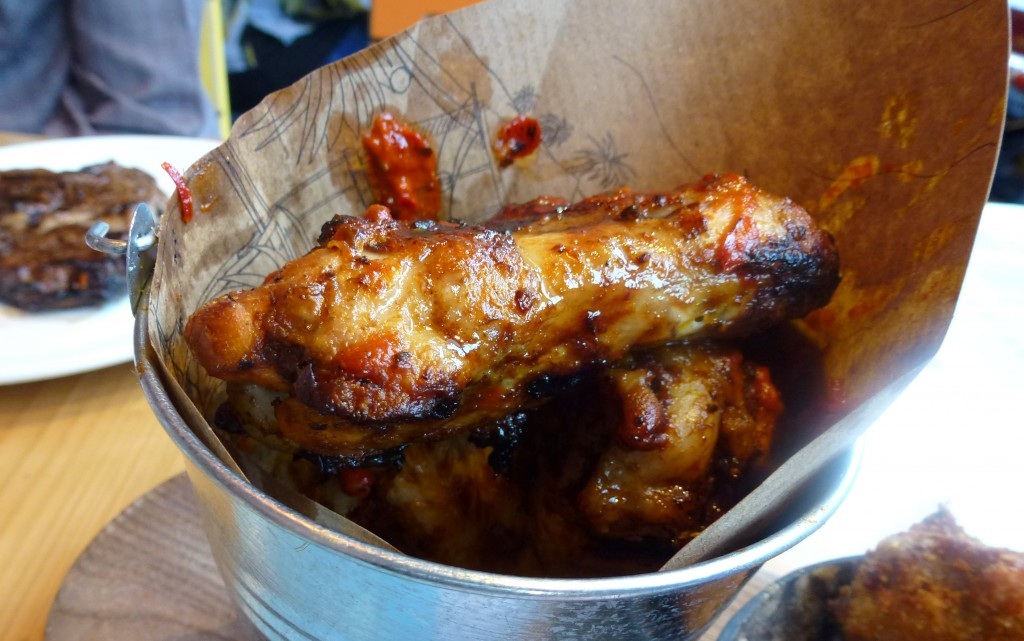 Spicy Malagueta chicken wings at Cabana