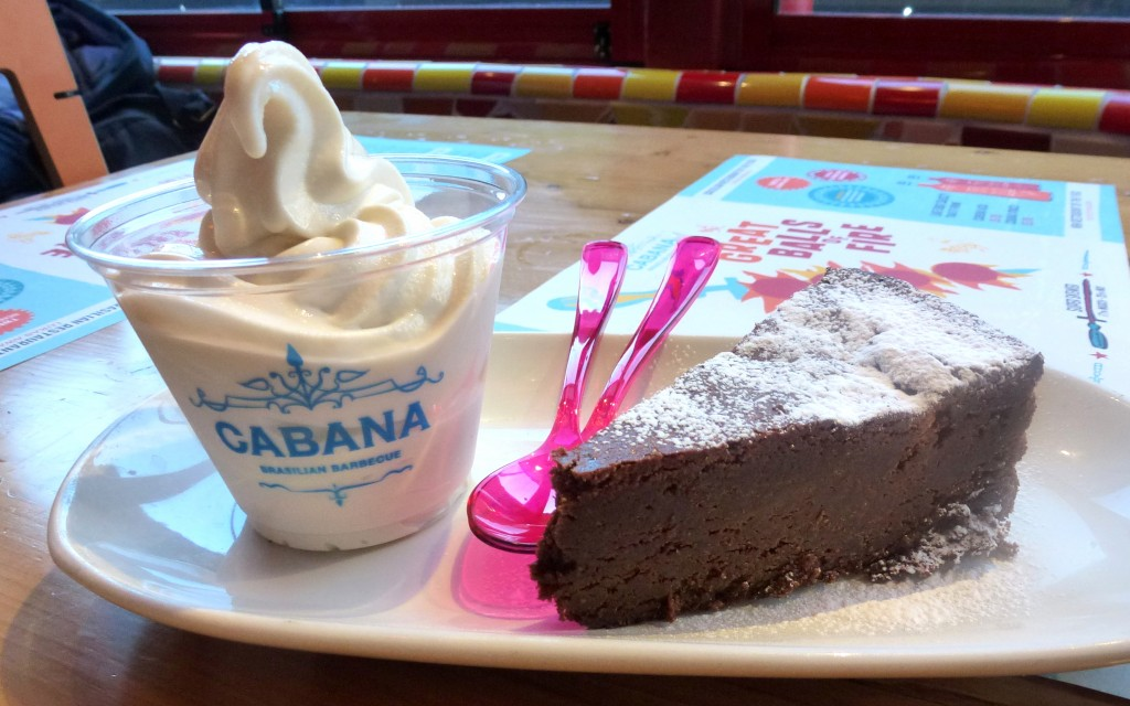 Nega Maluca - Chocolate cake, peanut butter froyo at cabana