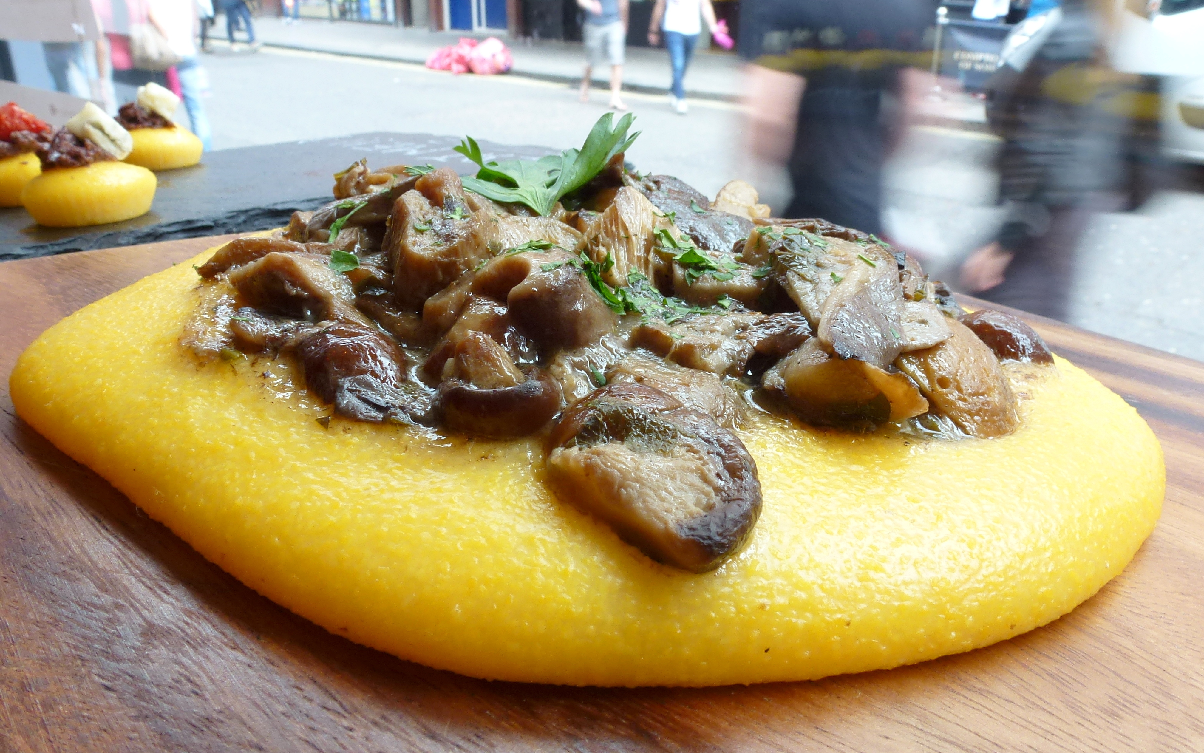 Polenta, mixed mushrooms La Polenteria