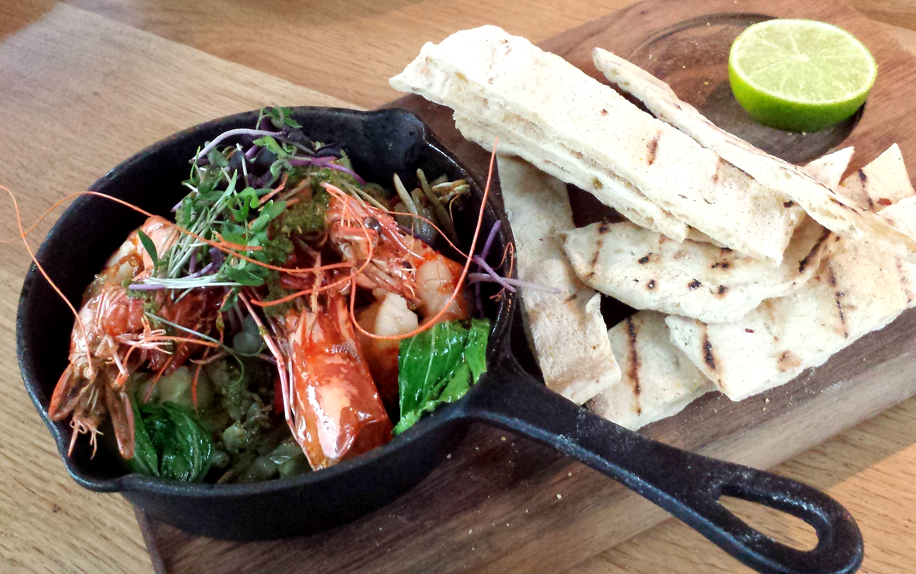 Skillet of prawns The Fable
