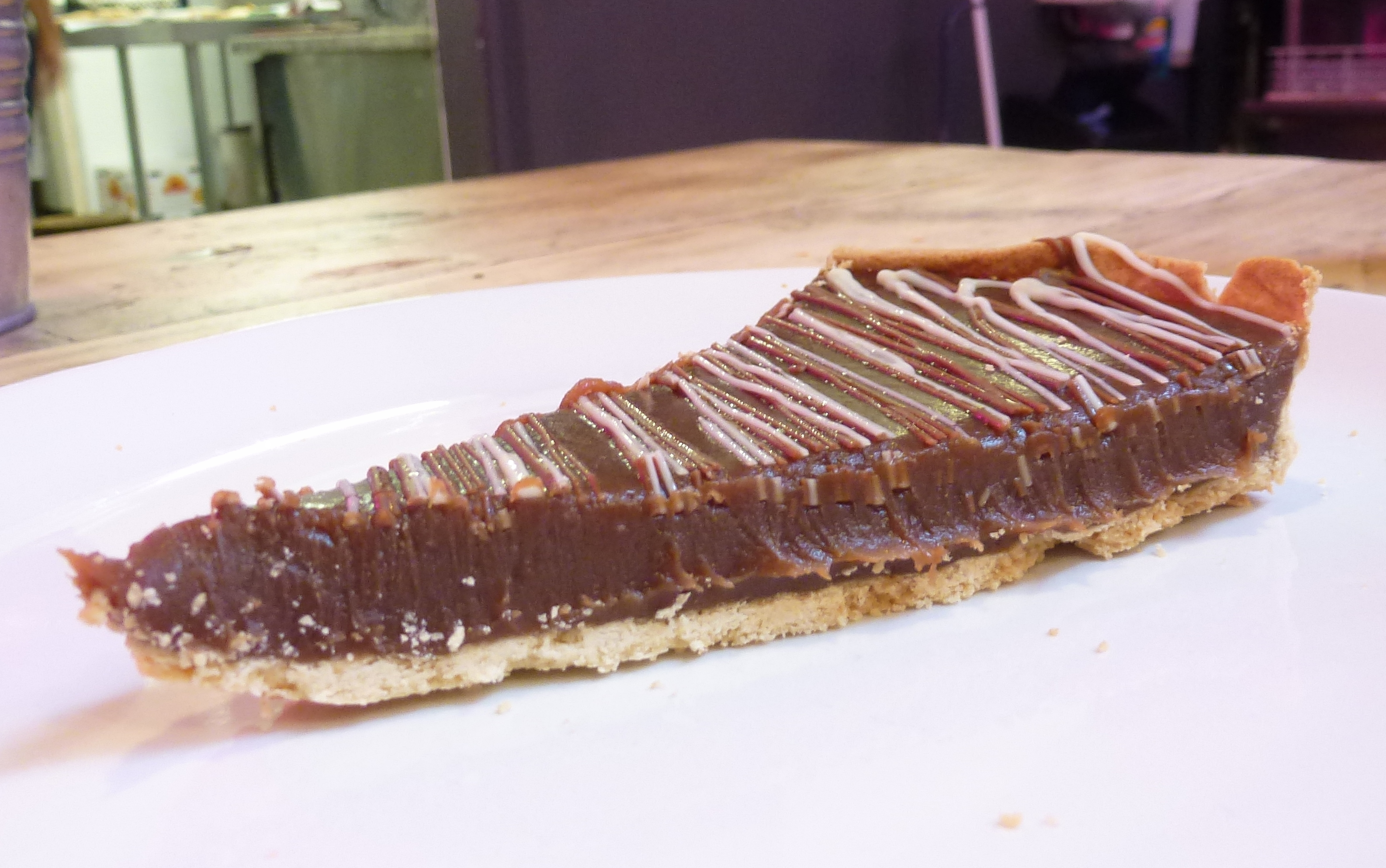 Salted caramel tart GB Pizza Co