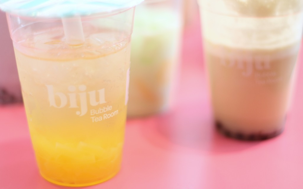 Coconut water with mango jelly biju bubble tea room