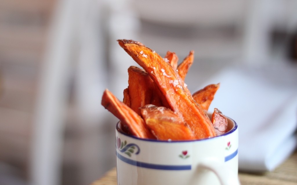 Sweet potato chips, truffle salt bobo social