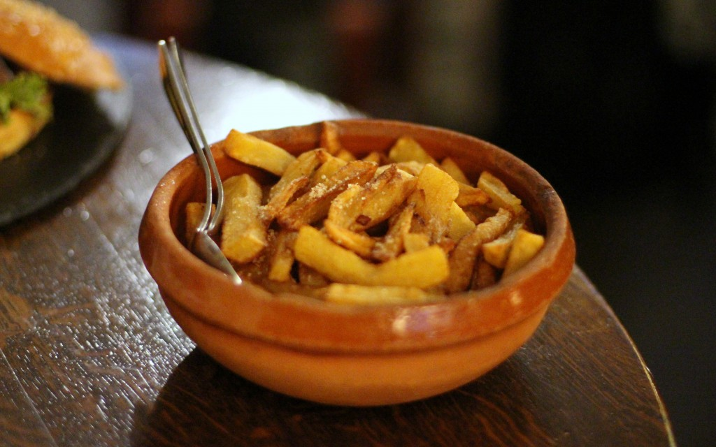 French fries cooked in duck fat & crazy salt Comptoir Gascon