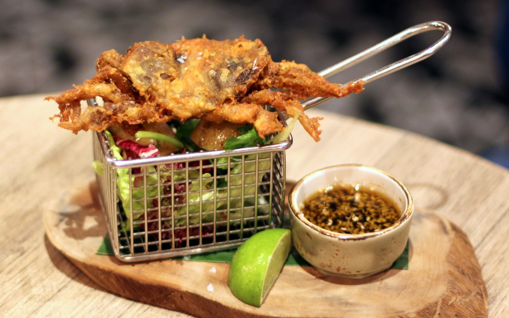 Tempura soft-shell crab, Forge bar London
