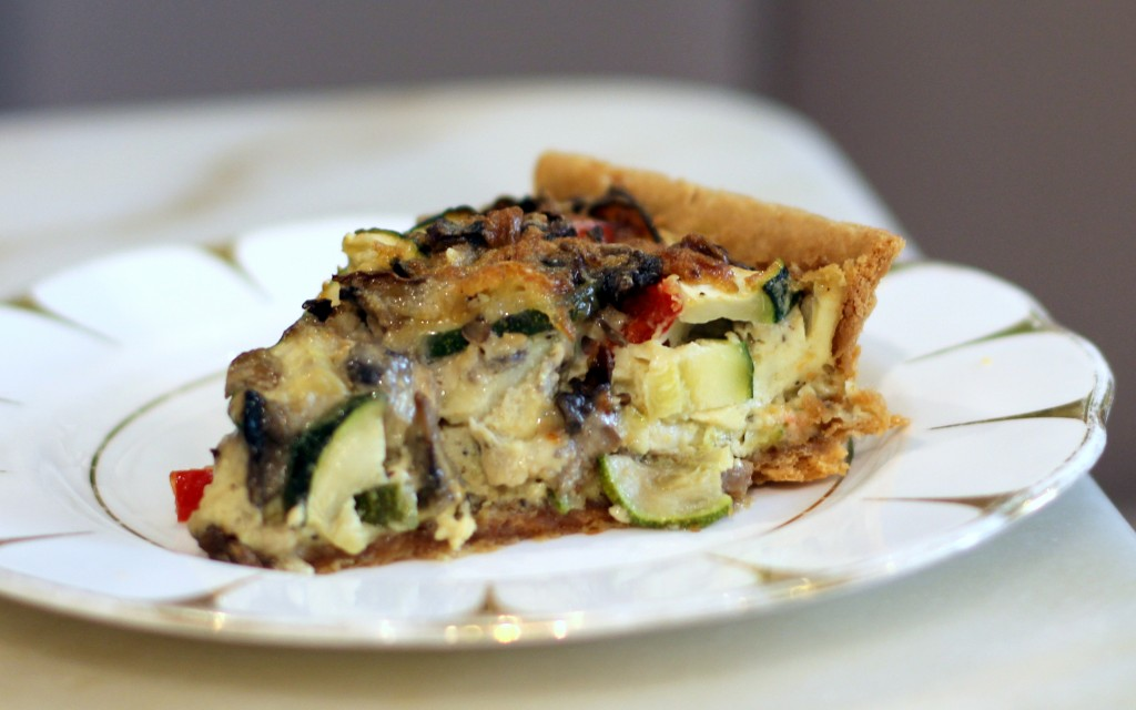 Vegetable quiche London