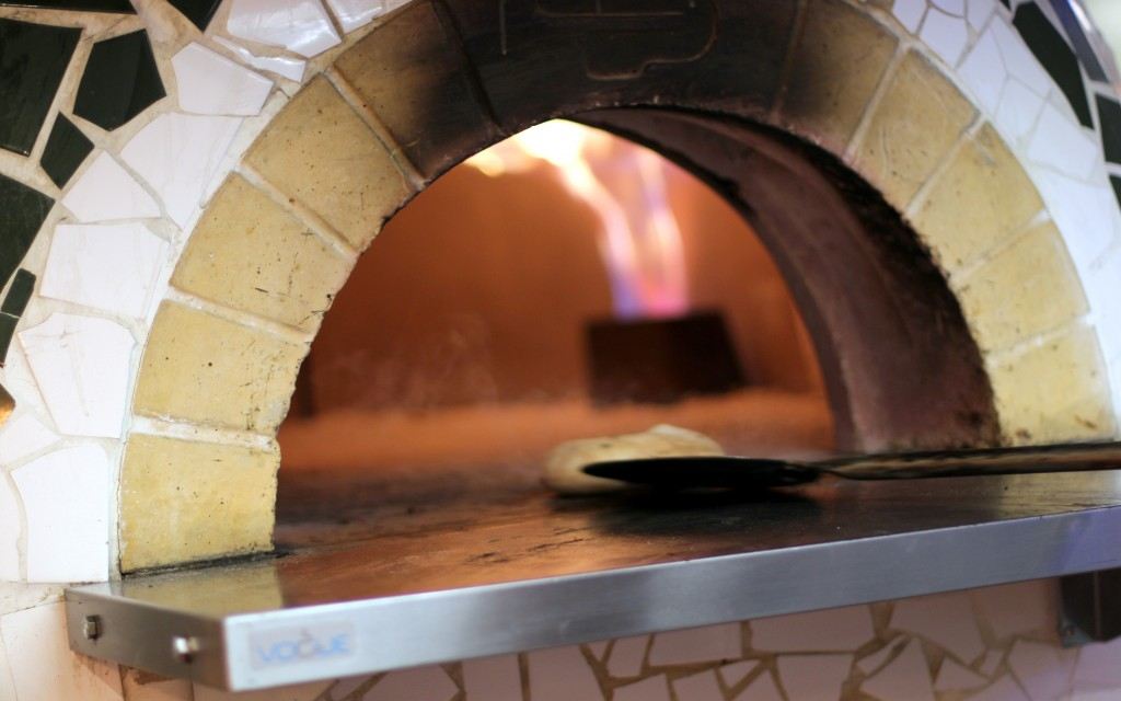 Steaming Pizza Pilgrims oven