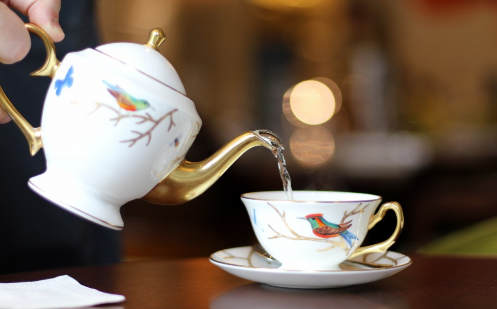 'Whole Rosebuds' tea, Rare & Limited menu, The Rosebery at Mandarin Oriental Afternoon Tea, Knightsbridge, London