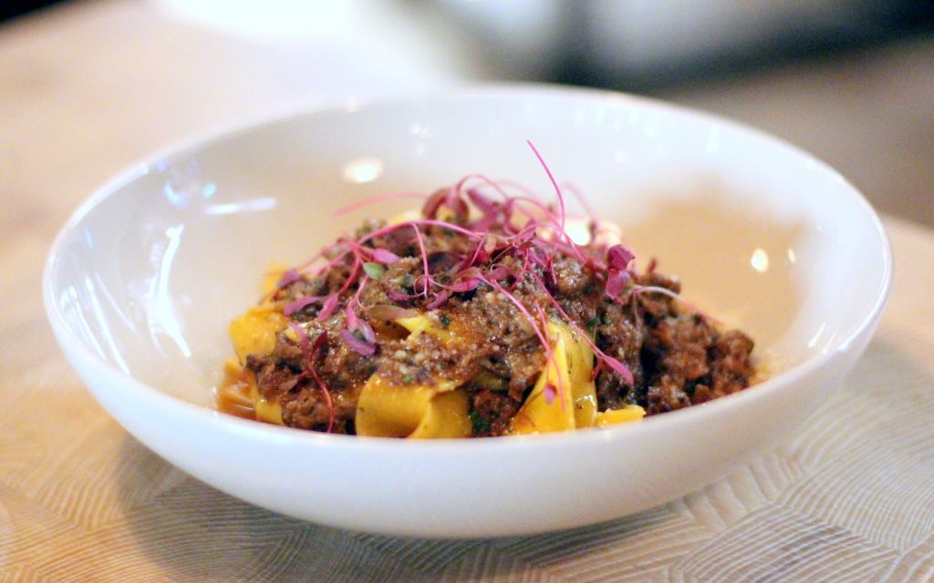 Beef shin ragu, pappardelle, Four to Eight restaurant Covent Garden, Italian