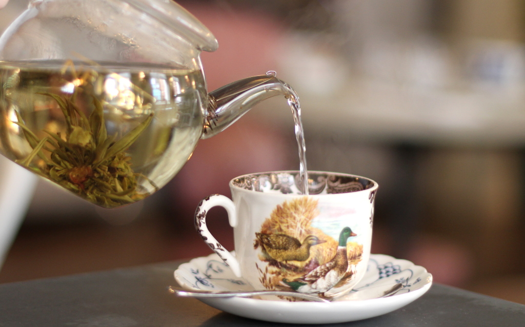 Jasmine blossom tea, Kettners afternoon tea london soho