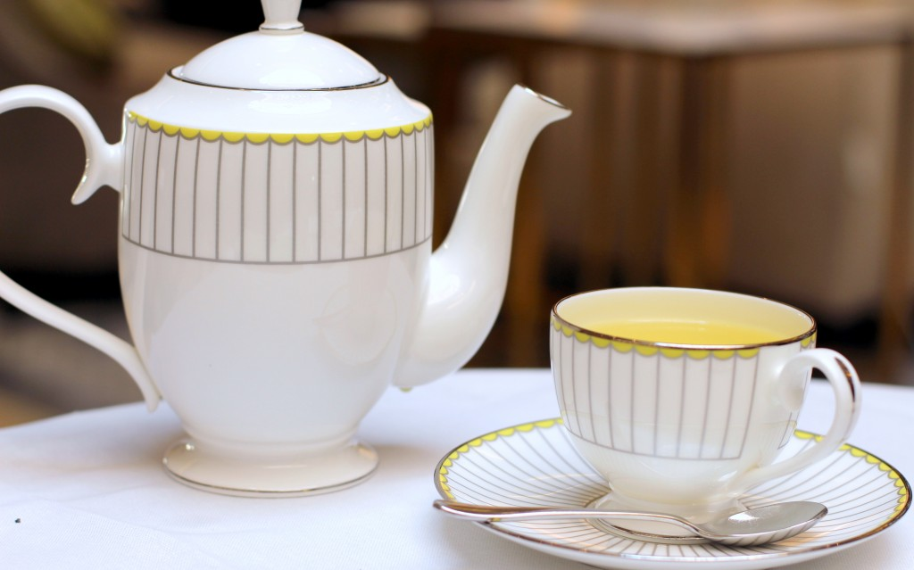 Camomile tea - Afternoon tea at Lobby Lounge in Corinthia London