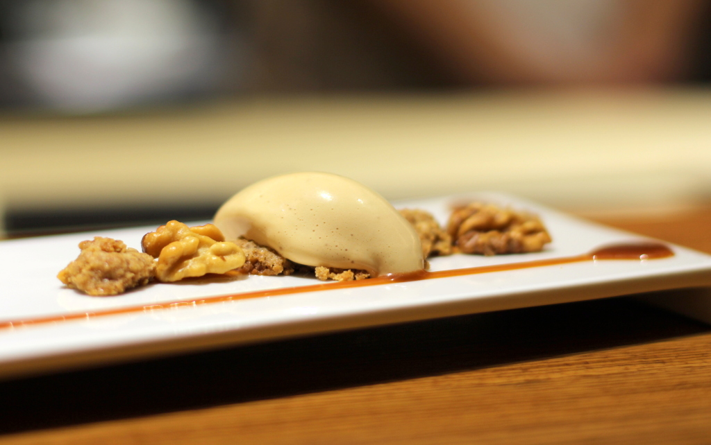 Walnuts, ice cream