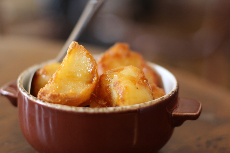 Caramel roast potatoes, Smokehouse, Chiswick, Neil Rankin, BBQ, London