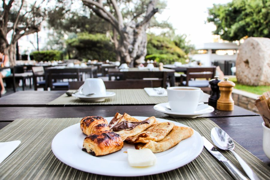 Hotel Almyra Paphos Cyprus Review Thanos breakfast