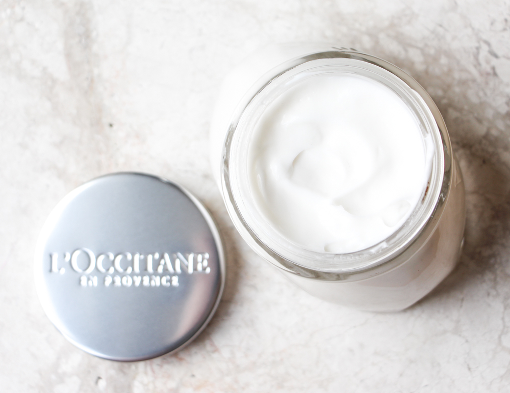 L'Occitane Almond Milk Concentrate blog review after sun skin care
