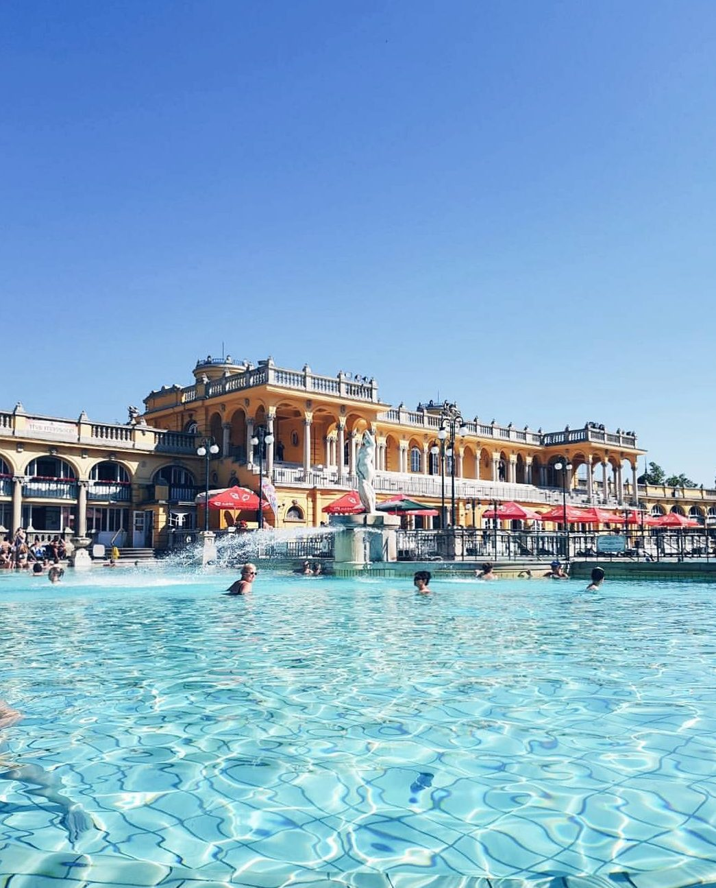 Szechenyi thermal bath Luxurious Weekend in Budapest itinerary blog review wrap your lips around this