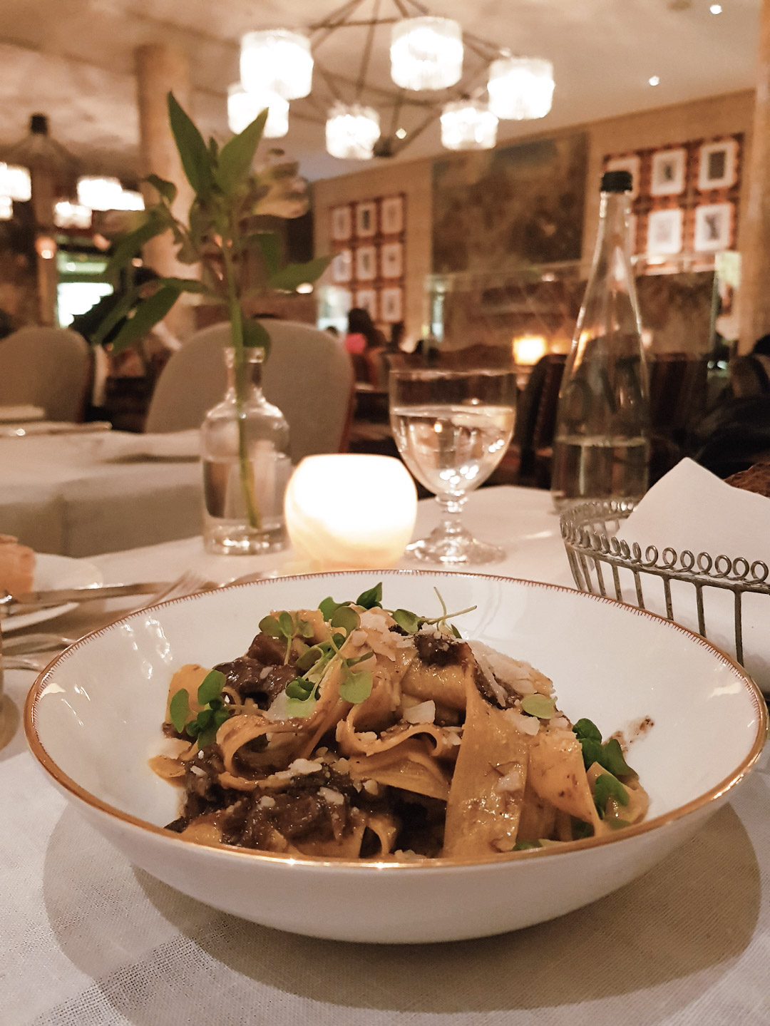 Dinner at Ham Yard Hotel Soho Restaurant Review blog wrap your lips around this pappardelle